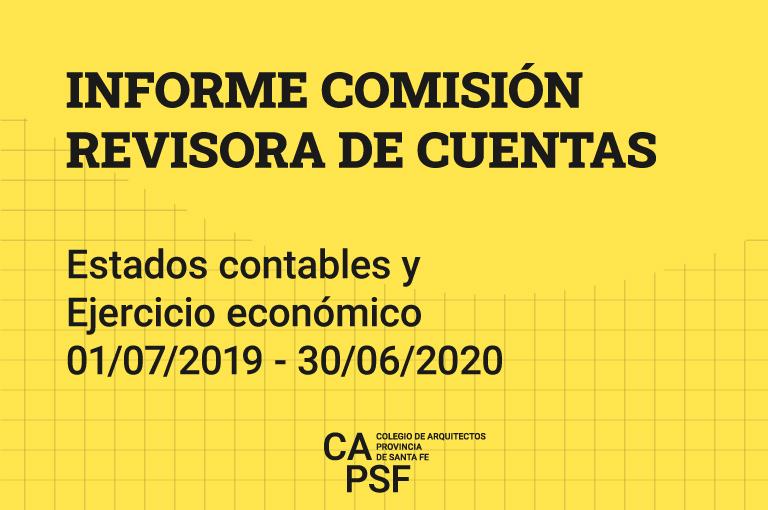 INFORME COMISIÓN REVISORA DE CUENTAS