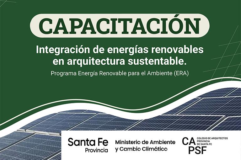 Nueva capacitación presencial en energías renovables con instalación de una planta fotovoltaica en cada distrito.