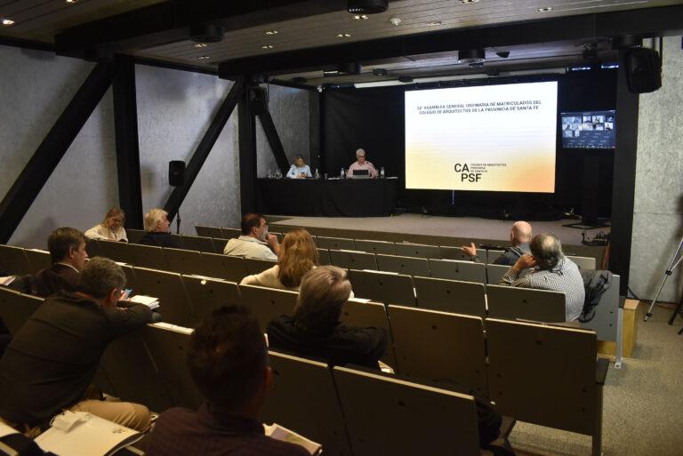 Asamblea General Ordinaria del Colegio de Arquitectos de la Provincia de Santa Fe