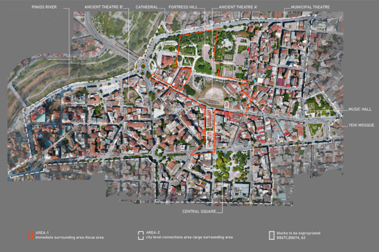 Concurso Internacional de Ideas Abiertas para el Diseño de los Alrededores del Antiguo Teatro A 'de Larissa